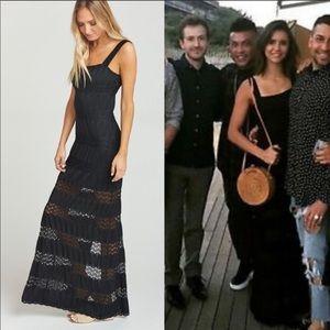Show Me Your Mumu Harlowe Lace Maxi Dress Black